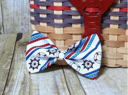 Picture of SunFlower Freckles Bow Tie White Nautical Ropes