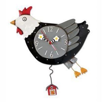Picture of Allen Designs Studio Clock - Flew the Coop Chicken