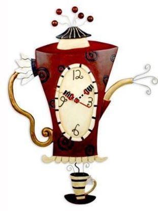 Picture of Allen Designs Studio Clock - Steamin' Tea Coffeepot