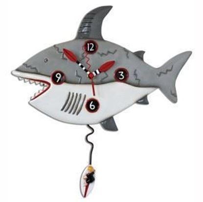 Picture of Allen Designs Studio Clock - Surf Risk Shark