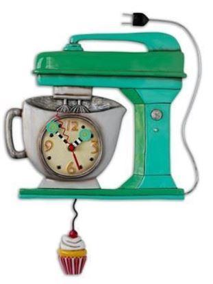 Picture of Allen Designs Studio Clock - Vintage Mixer Green