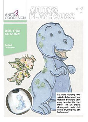 Picture of Anita Goodesign Embroidery Designs Bibs That Go Roar!
