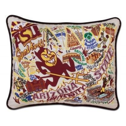 Picture of Catstudio Arizona State University Hand Embroidered Pillow