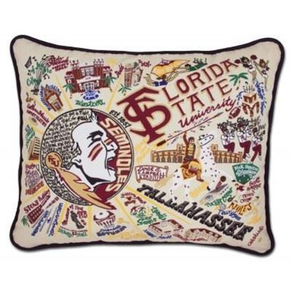 Picture of Catstudio Florida State University Hand Embroidered Pillow