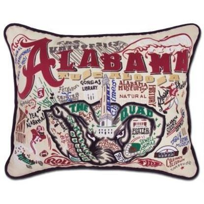 Picture of Catstudio University of Alabama Hand Embroidered Pillow