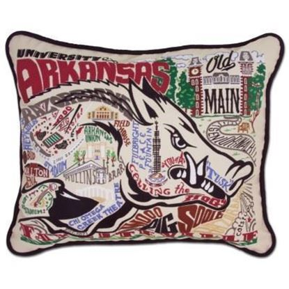 Picture of Catstudio University of Arkansas Hand Embroidered Pillow