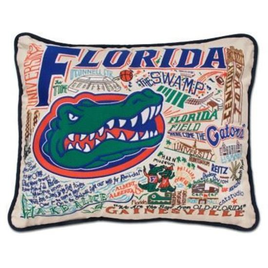Catstudio University Of Florida Hand Embroidered Pillow