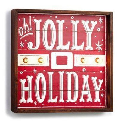 Picture of Demdaco Lit Jolly Holiday Sign