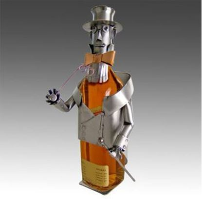 Picture of H & K Sculptures Steel Bottle Caddy Gentleman Johnny Whiskey