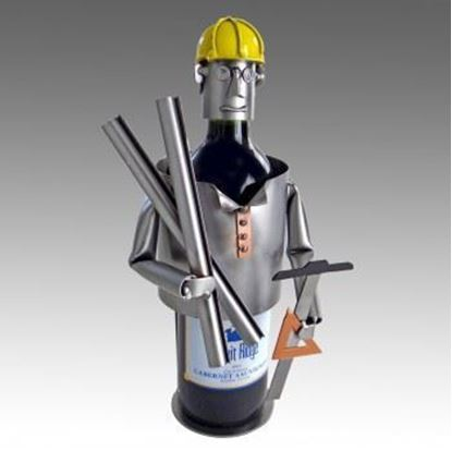 Picture of H & K Sculptures Steel Wine Caddy Architect