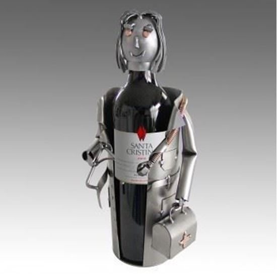 Picture of H & K Sculptures Steel Wine Caddy Doctor Female