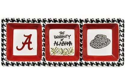 Picture of Magnolia Lane 3 Section Serveware Tray (Alabama Crimson Tide Houndstooth)