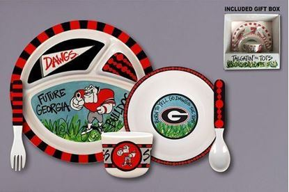 Picture of Magnolia Lane Tailgatin' For Tots Melamine Set University of Georgia
