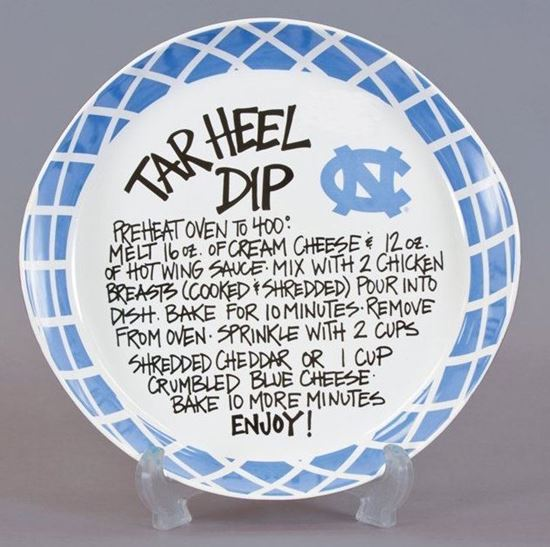 Picture of Magnolia Lane University of North Carolina Ceramic Tarheel Dip Recipe Bowl