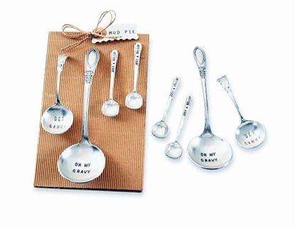 Picture of Mud Pie 4-piece Kitchen Ladles Spoon Set ~ Get Saucy