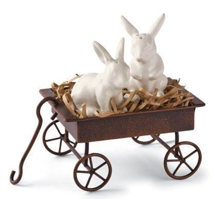 Picture of Mud Pie Bunny Salt and Pepper Wagon