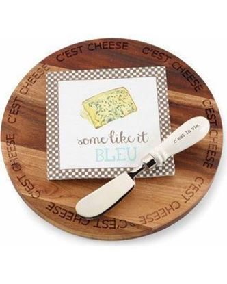 Picture of Mud Pie Cc'est Cheese Wood Board Set