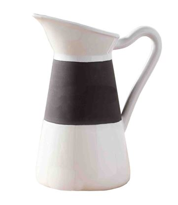 Picture of Mud Pie Ceramic Chalkboard Pitcher, Black