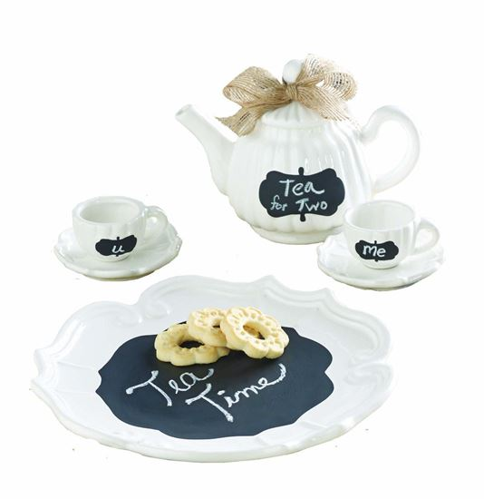 Picture of Mud Pie Chalkboard Tea Set