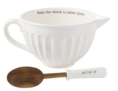 Picture of Mud Pie Circa Mixing Bowl Set, White