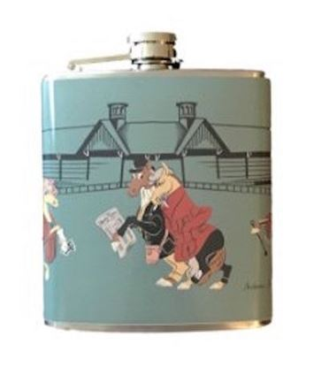 Picture of Original Depler Stainless Steel Flask Day at the Races