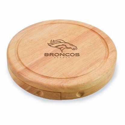 Picture of Picnic Time Circo Brie Cheese Set - Denver Broncos
