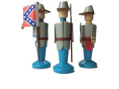 Picture of Regimental Colours Civil War Toys - Confederate Infantry Boxed Set
