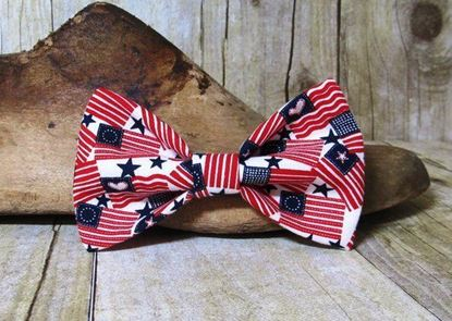 Picture of SunFlower Freckles Bow Tie American Flags